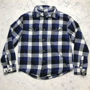 Faded Glory Girls Plaid Flannel Button Down Shirt